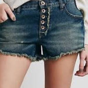Free People Runaway Denim Shorts